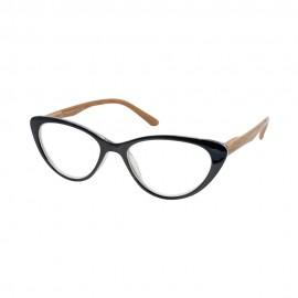 Eyelead Ε204 Μαύρο Πεταλούδα με ξύλινο Βραχίονα Κοκκάλινο 1.00