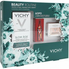 Vichy Promo Slow Age Fluid Spf25 50 ml & Double Glow Peel Mask 15 ml & Liftactiv Glyco - C Αμπούλα Νύχτας 2 ml