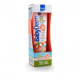 Intermed Babyderm Sunscreen Cream SPF30 100% Natural Filters Παιδικό- Βρεφικό Αντηλιακό Πρόσωπο/Σώμα 300ml