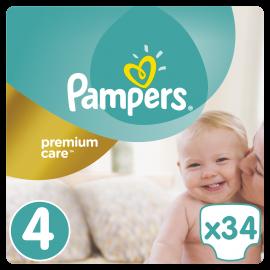 Pampers Premium Care No.4 (8-14kg) 34 Πάνες