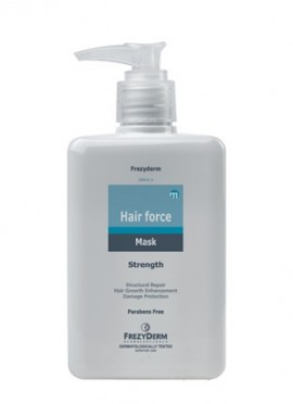 Frezyderm Hair Force Mask, Τριχοτονωτική Μάσκα Θρέψης & Ενδυνάμωσης 200ml