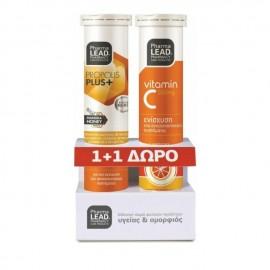 PharmaLead Propolis Immune Protect με Γεύση Λεμόνι 20 Αναβράζοντα Δισκία & Vitamin C 550mg 20 Αναβράζοντα Δισκία