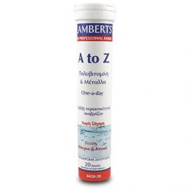 Lamberts A to Z Multivitamin Πολυβιταμίνη 20 Αναβράζοντα Δισκία