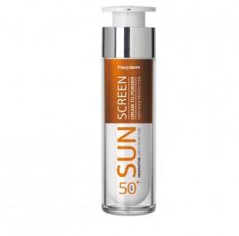 Frezyderm Sun Screen Cream to Powder SPF50+, Αντηλιακό Προσώπου με Αίσθηση Πούδρας - 50ml