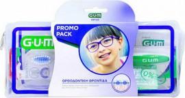 GUM Ortho Care Kit Ορθοδοντική Οδοντόβουρτσα (124), 1τμχ, Προτεμαχισμένο Κερί Ortho (723), 1τμχ, AftaClear Gel (2400), 2x2ml, Νήμα Ortho 3 σε 1 (3220) 5τμχ