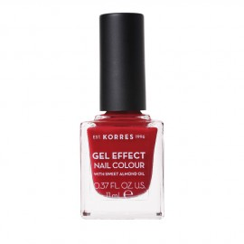 Korres Gel Effect Nail Colour With Sweet Almond Oil No.56 Celebration Red 11ml