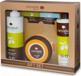 Messinian Spa Shower Gel Fig 300ml + Body Milk 300ml + Face & Body Scrub Prickly Pear/Dittany 250ml