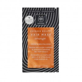 Apivita Express Beauty Μάσκα Μαλλιών Λάμψης & Αναζωογόνησης με Πορτοκάλι 20ml