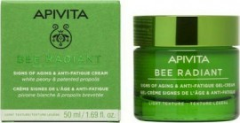 Apivita Bee Radiant Peony Light Texture, Κρέμα-Gel για Σημάδια Γήρανσης & Ξεκούραστη Όψη Ελαφριάς Υφής 50ml