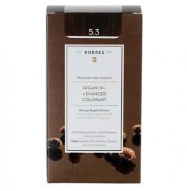 Korres Βαφή Argan Oil Advanced Colorant 5.3 Καστανό Ανοικτό Χρυσό/Μελί