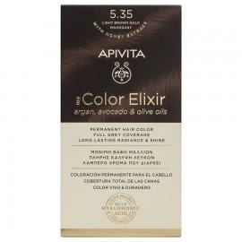 Apivita My Color Elixir Βαφή Μαλλιών 5.35 Ξανθό Ανοιχτό Μελί Μαονί