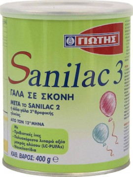 Γιώτης Γάλα σε Σκόνη Sanilac 3 12m+ 400gr