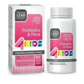 Pharmalead 4 Kids Probiotics & Fibre με Γεύση Φράουλα 60 ζελεδάκια