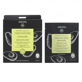 Apivita Express Beauty Tissue Face Mask Avocado Μάσκα Προσώπου με Αβοκάντο 10ml