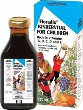 Power Health Floradix Kindervital Πολυβιταμινούχο Σιρόπι με Ασβέστιο & Βιταμίνη D 250ml