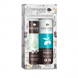 Messinian Spa Promo Shower Gel Yogurt Aloe 300ml & After Burn Cooling Gel mint Aloe 300ml