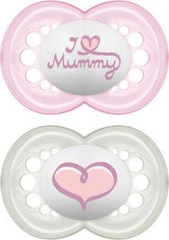 Mam I Love Mummy & Daddy Πιπίλα Σιλικόνης 0m+ 2τμχ
