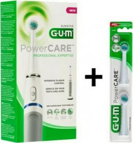 GUM Powercare Sensitive 4200 & Ανταλλακτικές Κεφαλές 2 τμχ