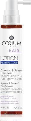 Corium Hair Anti-Hair Lotion, Λοσιόν Κατά της Χρόνιας & Εποχικής Τριχόπτωσης 100ml