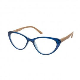 Eyelead Γυαλιά Πρεσβυωπίας - Διαβάσματος Ε205 Μπλε-Πεταλούδα με ξύλινο Βραχίονα