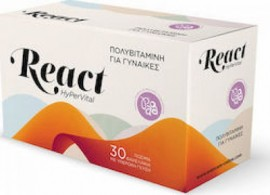 Evercare React HyPerVital Women 30 σακουλάκια