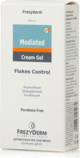 Frezyderm Mediated Cream - Gel, Ζελ Ενυδάτωσης & Κερατόλυσης, Λιπαρής & Ξηρής Πιτυρίδας 50ml