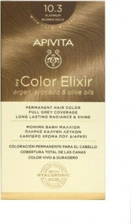 Apivita My Color Elixir 10.3 Κατάξανθο Χρυσό 125ml