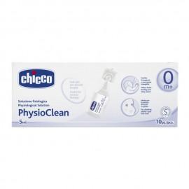 Chicco PhysioClean 0m+, Φυσιολογικός ορός 10x5ml, Απολυμαντικός & Ενυδατικός
