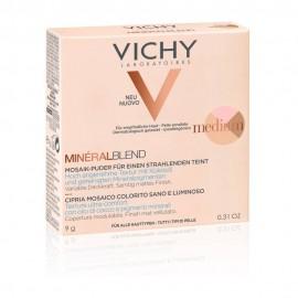 Vichy Mineralblend Healthy Glow Tri-Colour Powder Medium, Τρίχρωμη Πούδρα για Φυσική Λάμψη 9gr