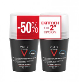 Vichy Promo Deodorant Homme 48h Αποσμητικό 2x50