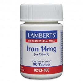 Lamberts Iron 14mg Σίδηρος 100 Tablets