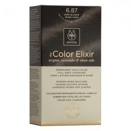 Apivita My Color Elixir Βαφή Μαλλιών 6.87 Ξανθό Σκούρο Περλέ Μπεζ