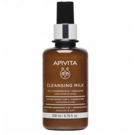 Apivita Cleansing Milk 3 σε 1 για Πρόσωπο & Μάτια Με Χαμομήλι & Μέλι 200ml