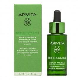 Apivita Bee Radiant Serum Peony, Ορός Ενεργοποίησης Λάμψης για Ξεκούραστη Όψη 30ml
