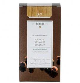Korres Βαφή Argan Oil Advanced Colorant 8.7 Καραμέλα
