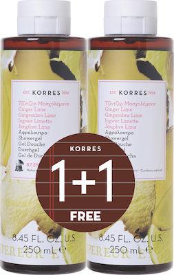 Korres Ginger Lime Αφρόλουτρο 250 ml 1+1 Δώρο