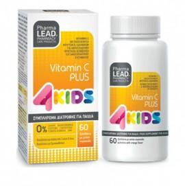 PharmaLead 4Kids Vitamin C Plus Πορτοκάλι 60 μασώμενα ζελεδάκια