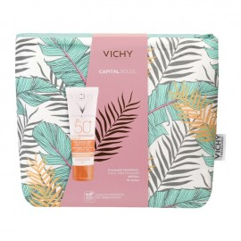 Vichy Capital Soleil Anti-Dark Spot 3 in 1 Tinted Daily Care SPF50+ 50 ml & Δώρο Necessaire