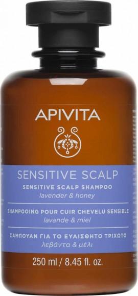 Apivita Sensitive Scalp Σαμπουάν Για Ευαίσθητο Τριχωτό Κεφαλής Με Λεβάντα & Μέλι 250ml