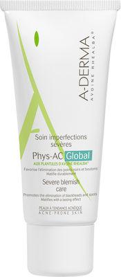 A-Derma Phys-AC Global Soin Imperfections Κρέμα Φροντίδας κατά των Ατελειών για Δέρματα με Τάση Ακμής, 40ml
