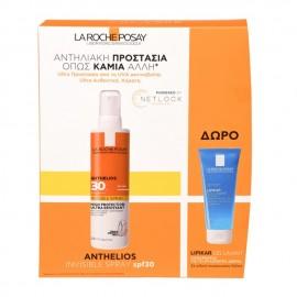 La Roche Posay Anthelios Spray SPF30 200 ml & Δώρο Lipikar Gel Lavant 100 ml