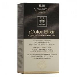 Apivita My Color Elixir Μόνιμη Βαφή Μαλλιών No 5.18 Καστανό Ανοιχτό Σαντρέ Περλέ