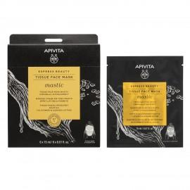 Apivita Express Beauty Tissue Face mask Mastic Firming & Lifting 15 ml