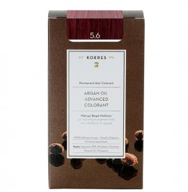 Korres Βαφή ARGAN OIL Advanced Colorant 5.6 Ανοιχτό Κόκκινο