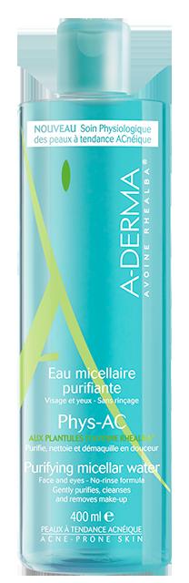 A-Derma Phys-AC Eau micellaire purifiante oily skin 400 ml
