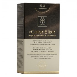 Apivita My Color Elixir Μόνιμη Βαφή Μαλλιών No 5.0 Καστανό Ανοιχτό