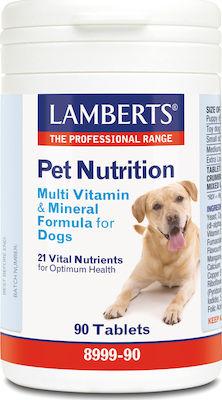 Lamberts Pet Nutrition Multi Vitamin & Mineral Formula For Dogs, Συμπληρωματική Ζωοτροφή για Σκύλους 90Tabs