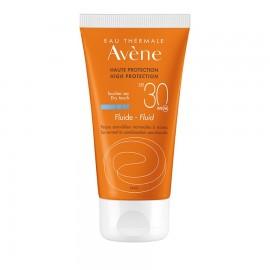 Avene Soins Solaires Fluide SPF30 Λεπτόρρευστη Αντηλιακή Προσώπου για Κανονικό-Μικτό-Λιπαρό Δέρμα 50ml