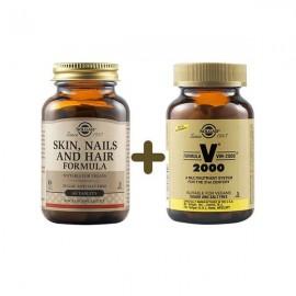 Solgar Skin, Nails and Hair Formula 60 tabs & Δώρο Πολυβιταμίνη Solgar VM-2000 14 tabs