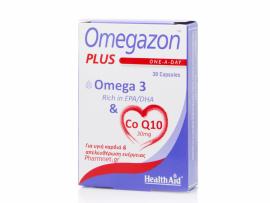 Health Aid Omegazon Plus Omega 3 & Co Q10 30mg 30caps